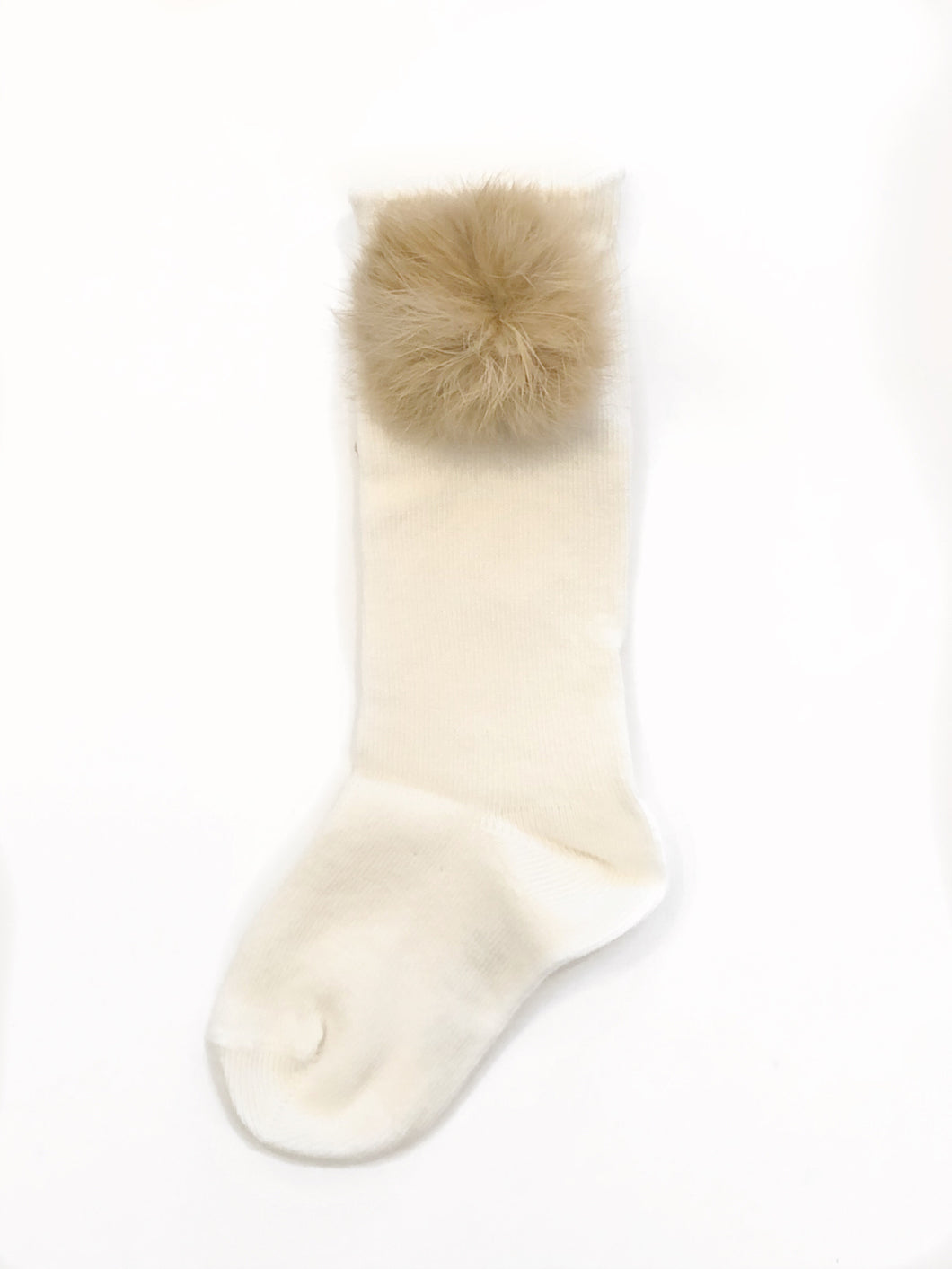 OFF WHITE FUR SOCK