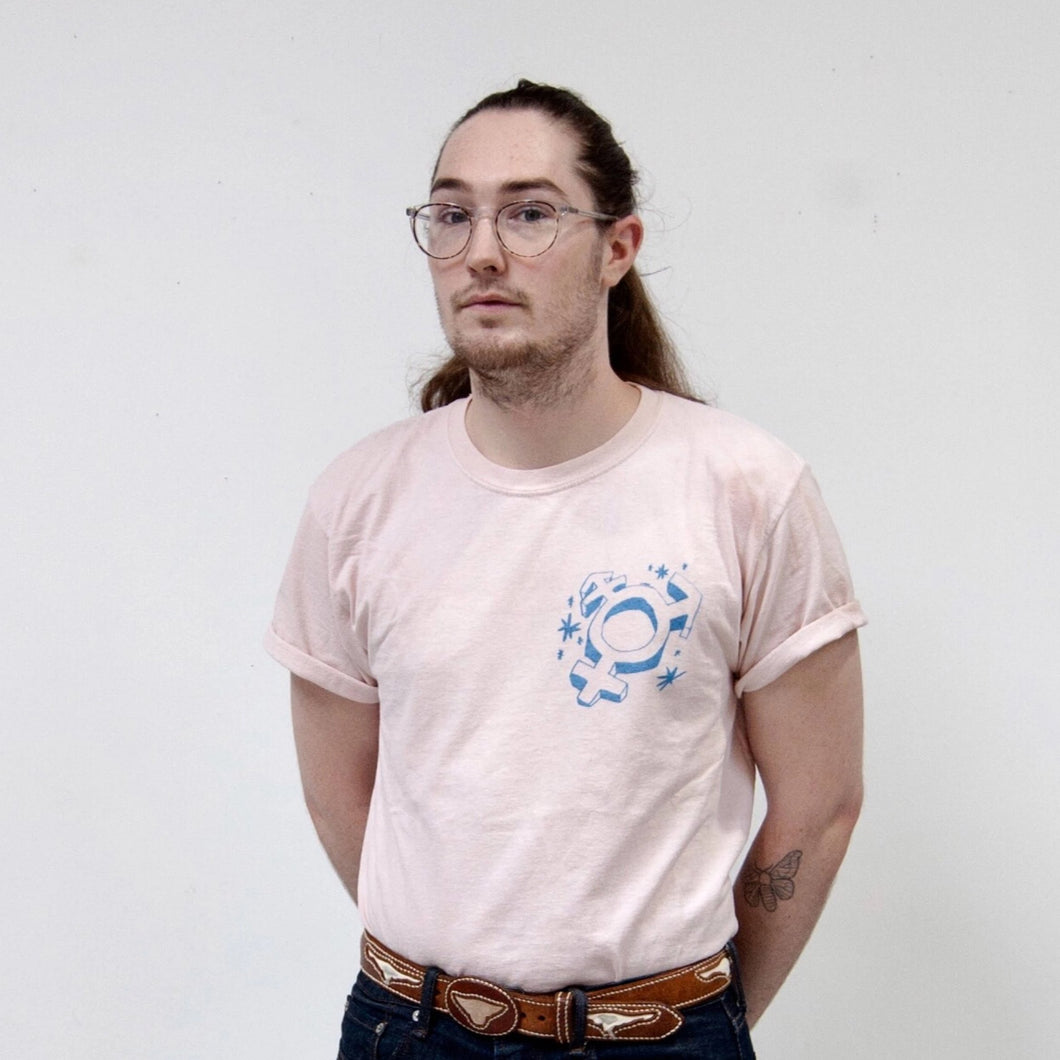 Trans Symbol Naturally Dyed Tee