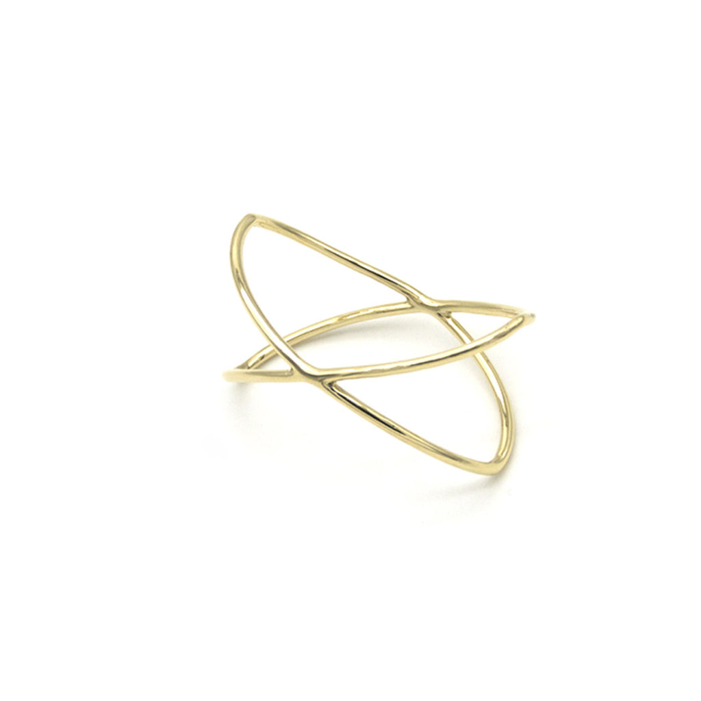 The Doria & Dojola Atomo Brass Scarf ring. Made in Austria
