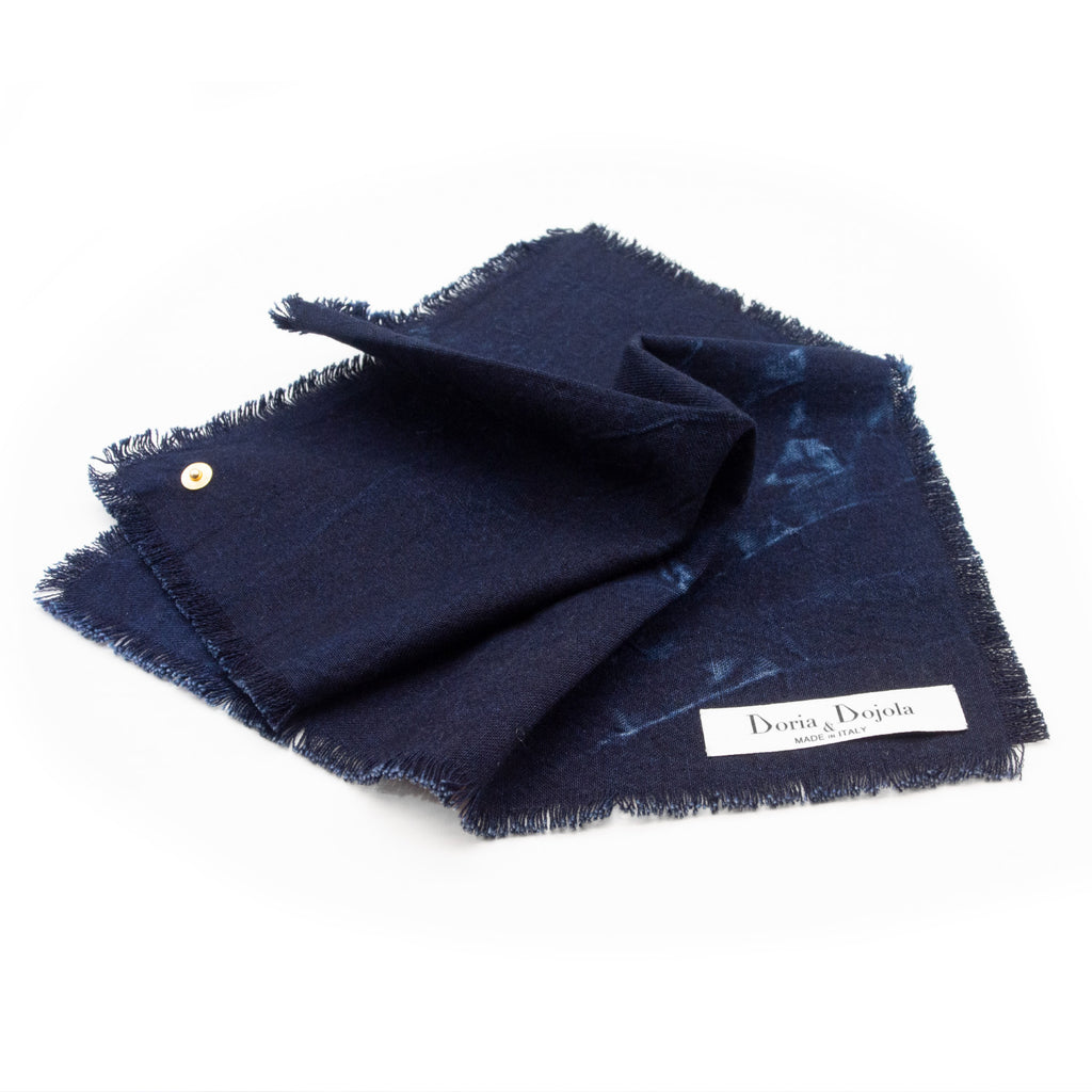 Caruggio Denim Pocket Square x Candiani
