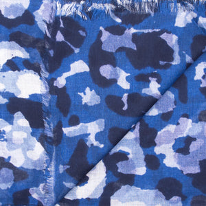 Doria & Dojola Camouflage Cashmere-Modal Scarf. 85% Modal 15% Cashmere  67 x 176 cm. 100% Made in Italy.