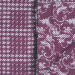 Doria and Dojolas Quotidiana Collection. The Art Nouveau & Pied de Poule Pattern 70% Wool 30% Modal 40 x 190 cm