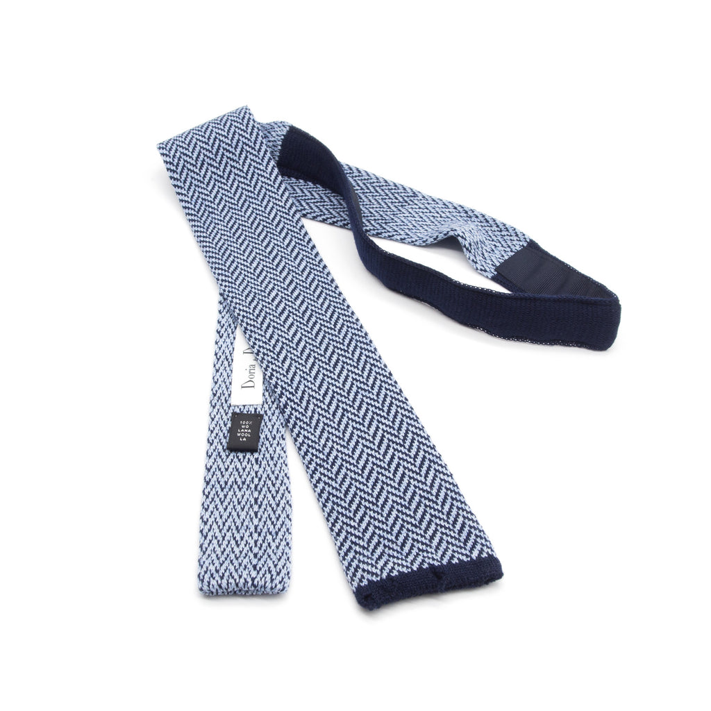 Doria & Dojola Herringbone Wool Tie. 100% Biellese Wool. Made in Italy.