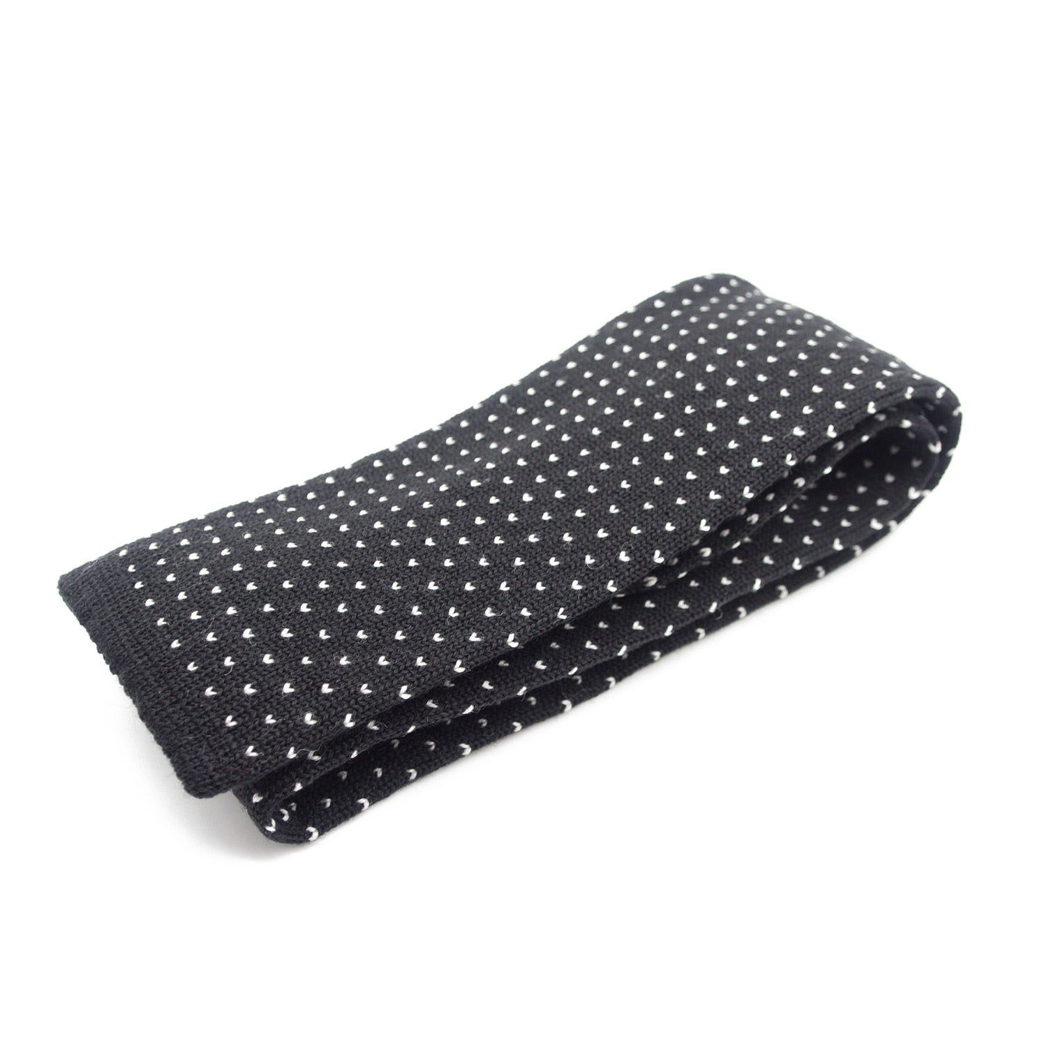 V Dots Wool Tie. 100% Biellese Wool. Made in Italy