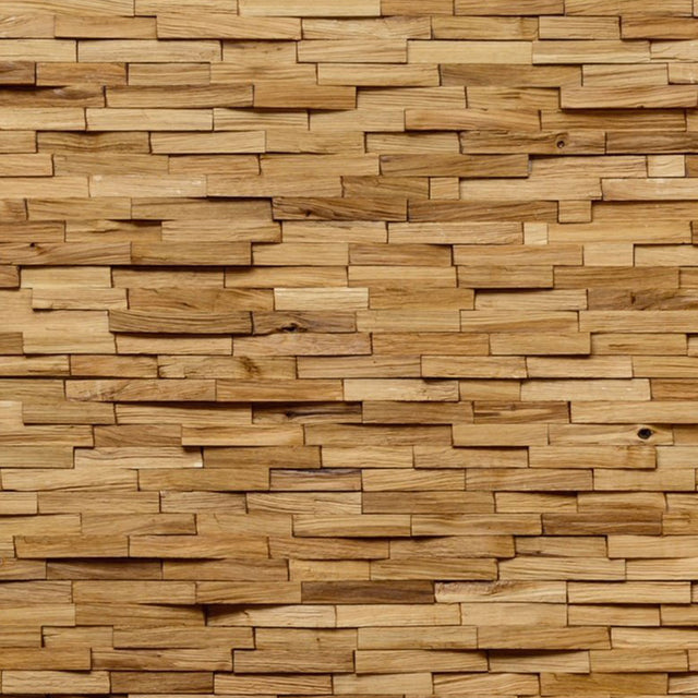 European Hand Split Oak 3D Wall Panelling Sample