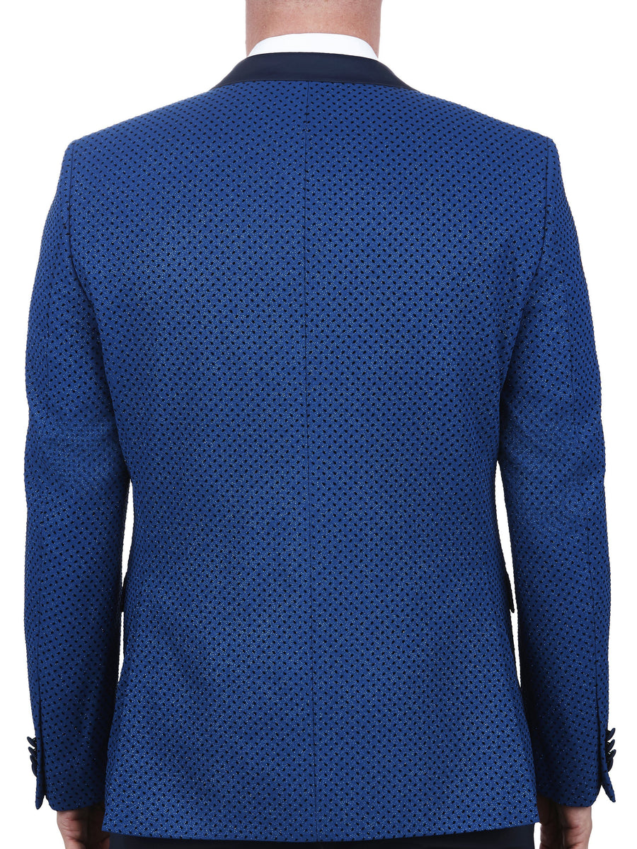Blazer Tesla Flock dot Blue