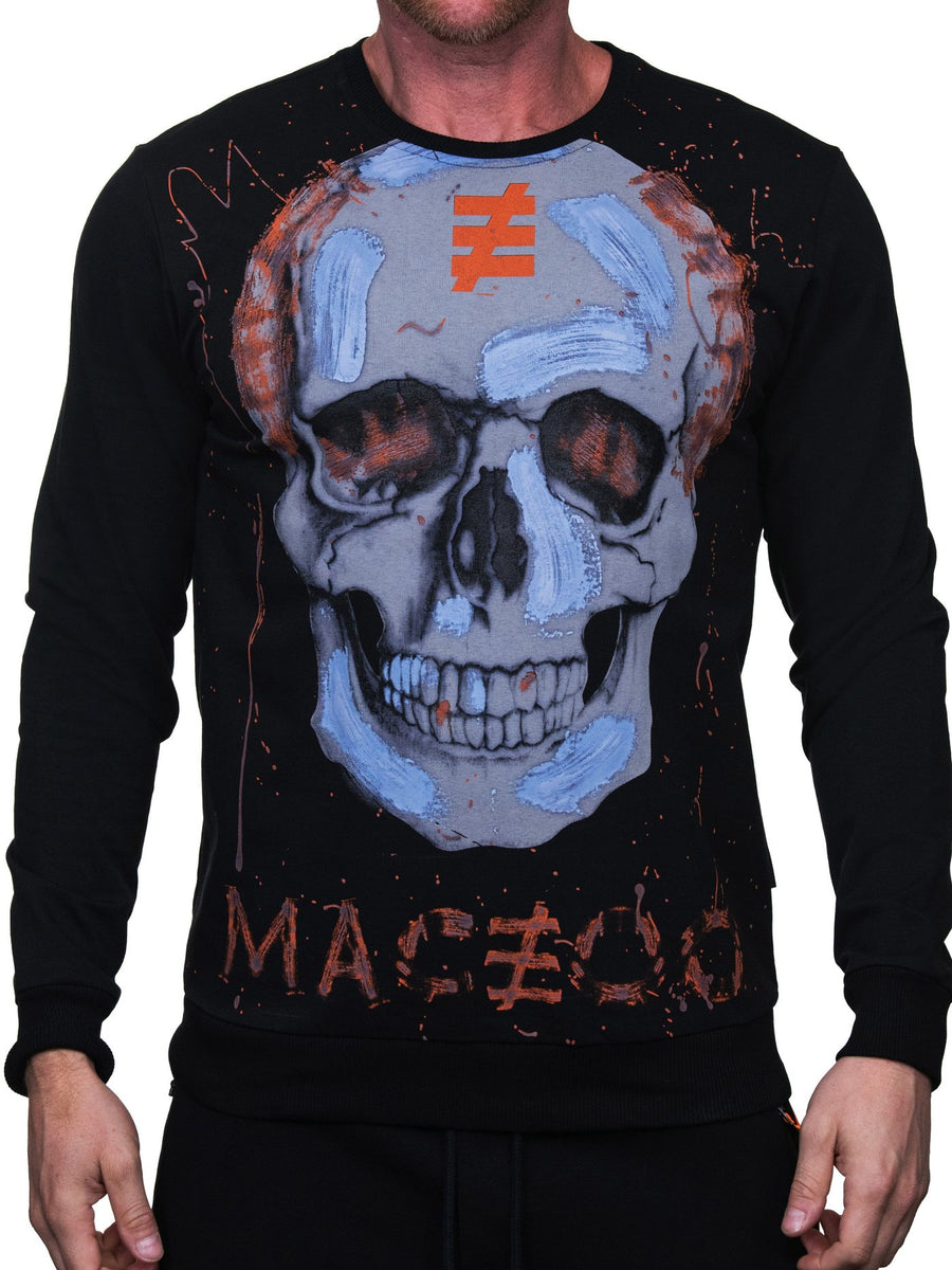Maceoo Sweater Skullpink Black