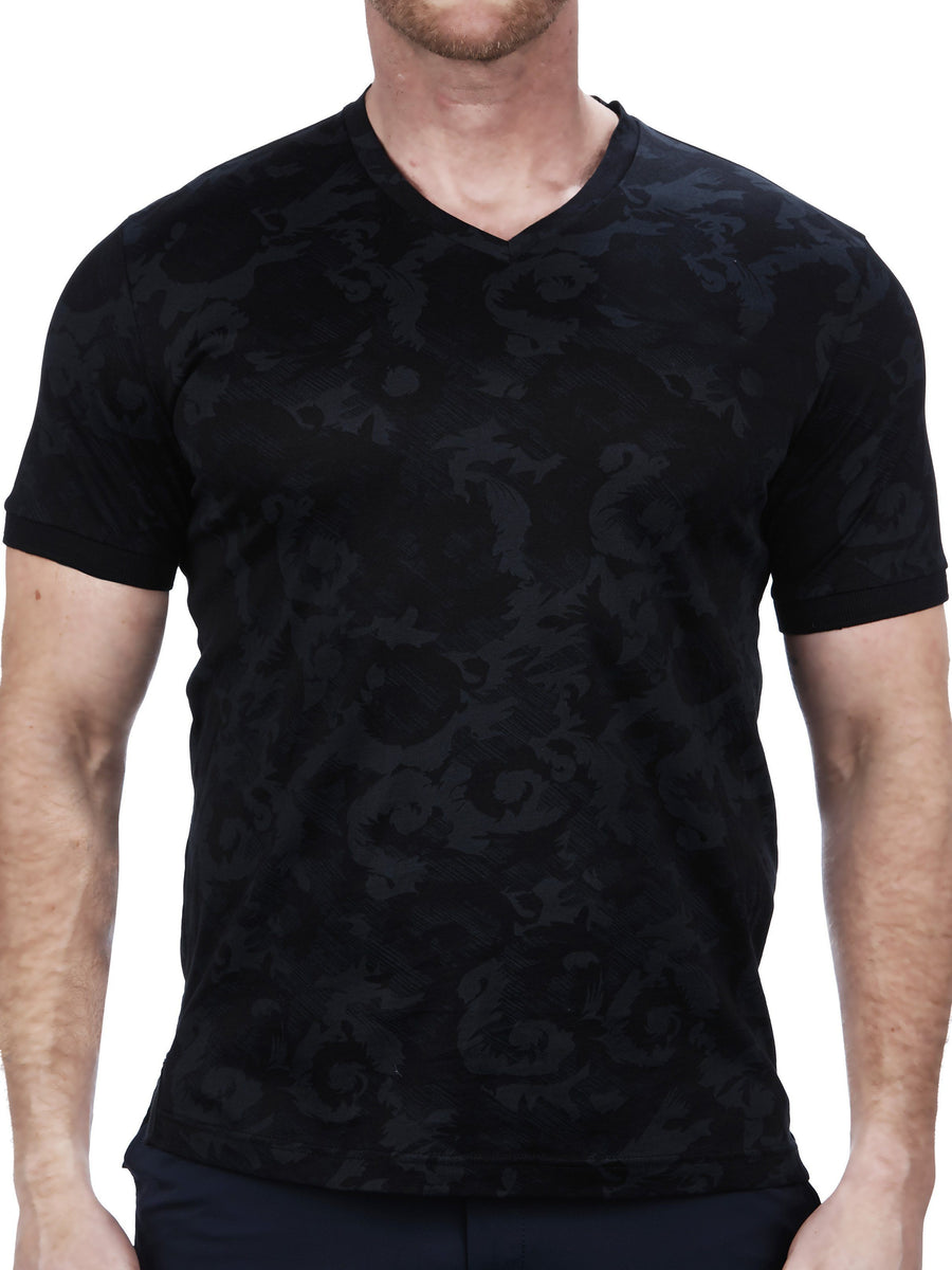 V Neck VivaldiBat Black