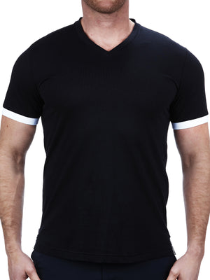 V Neck VivaldiSolidBand Black