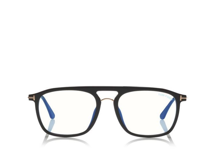 Tom Ford blue block soft square optical