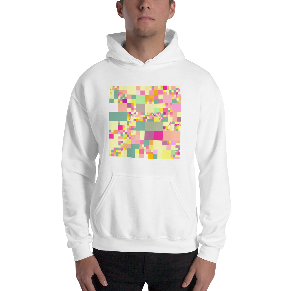 Pixelated Hooded Sweatshirt For The End of Days