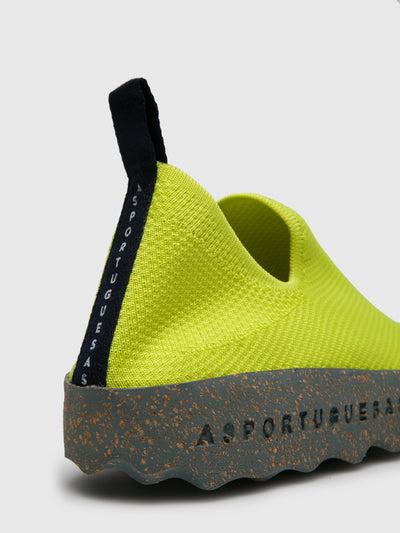 ASPORTUGUESAS Lime Elasticated Trainers