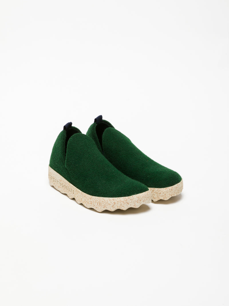 Green Round Toe Ankle Boots