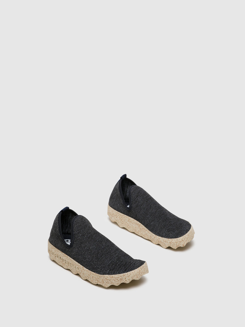 ASPORTUGUESAS Navy Elasticated Sneakers