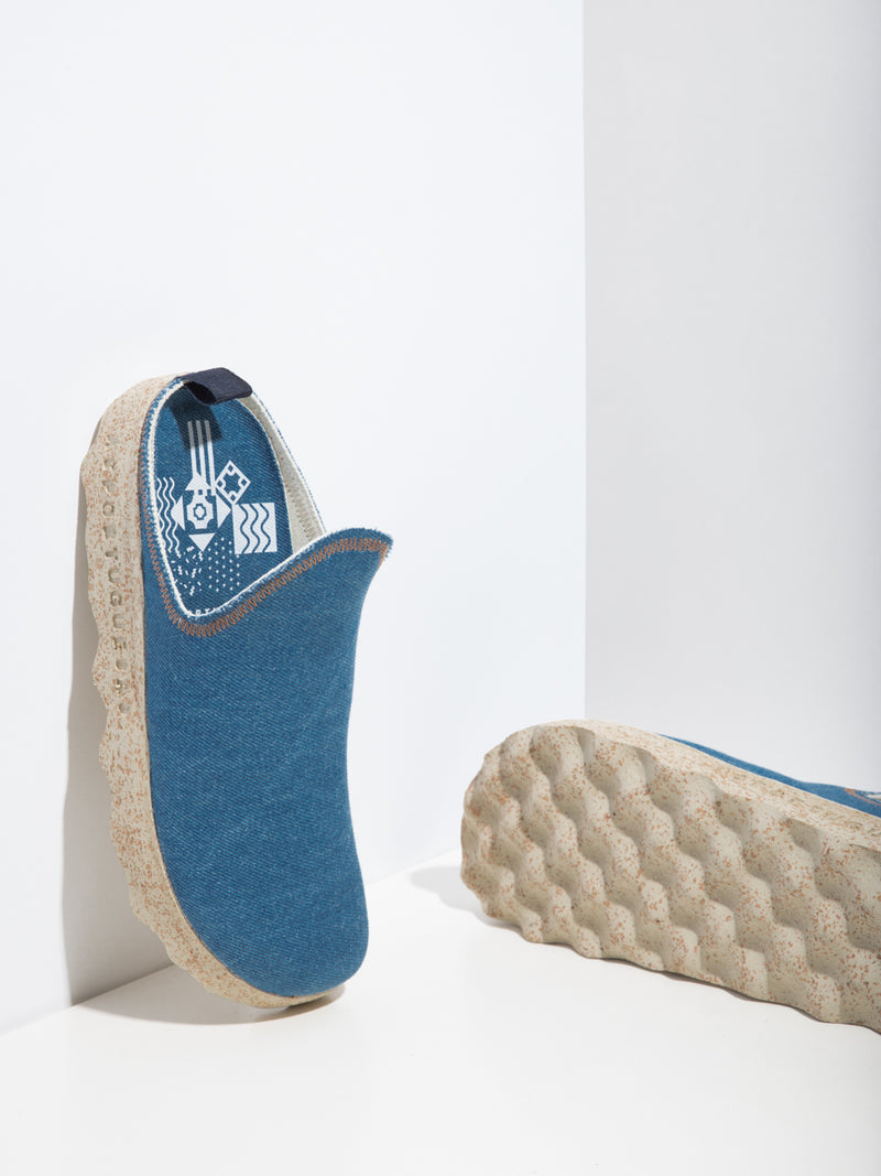 LightBlue Closed Mules