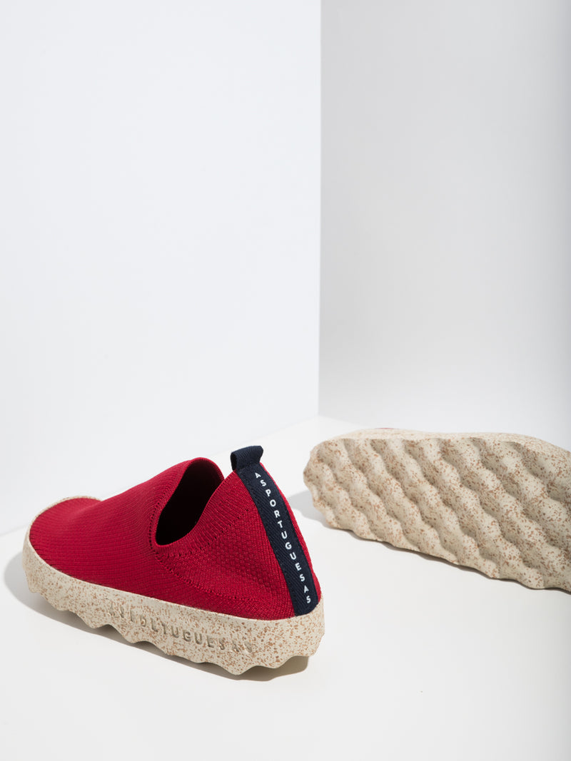 Red Elasticated Sneakers