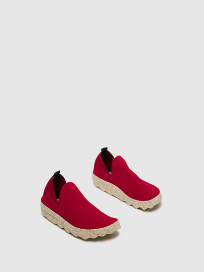 ASPORTUGUESAS Red Elasticated Sneakers