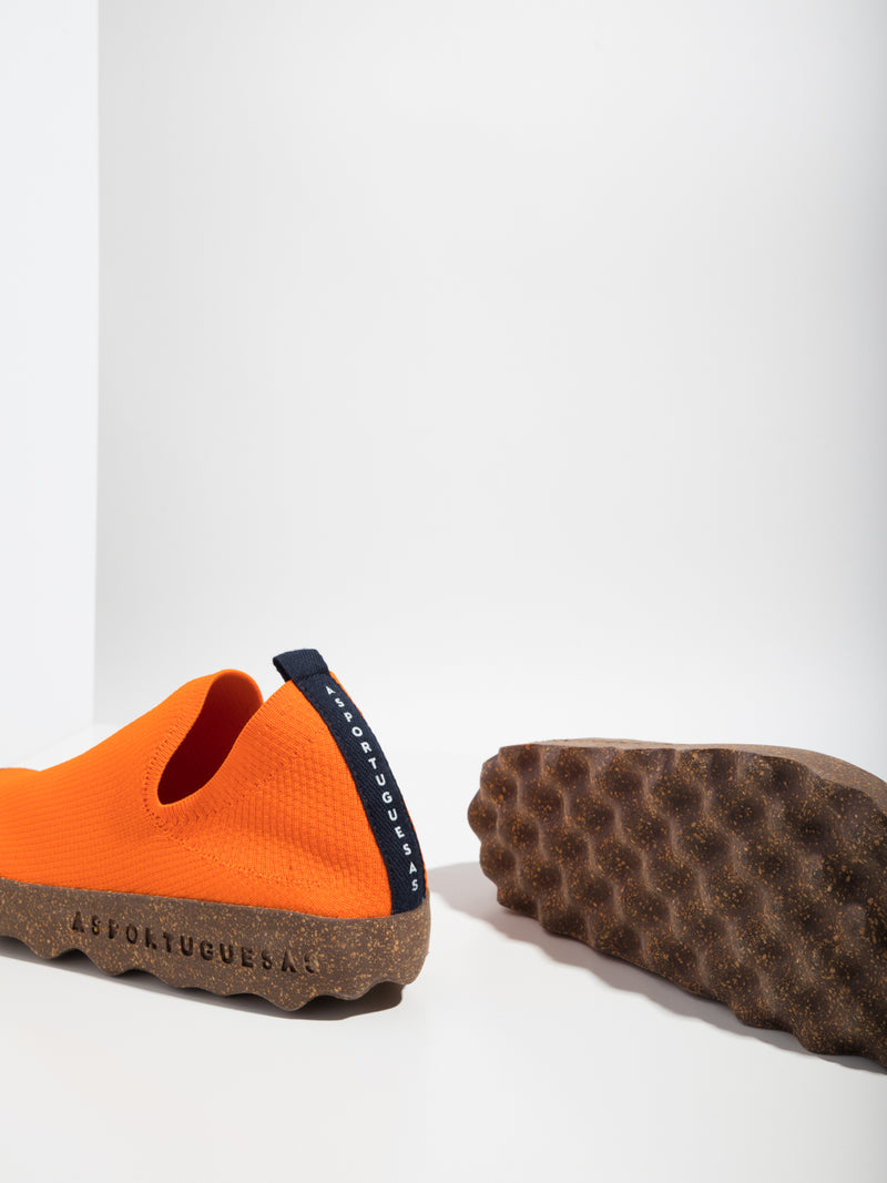 Orange Elasticated Sneakers