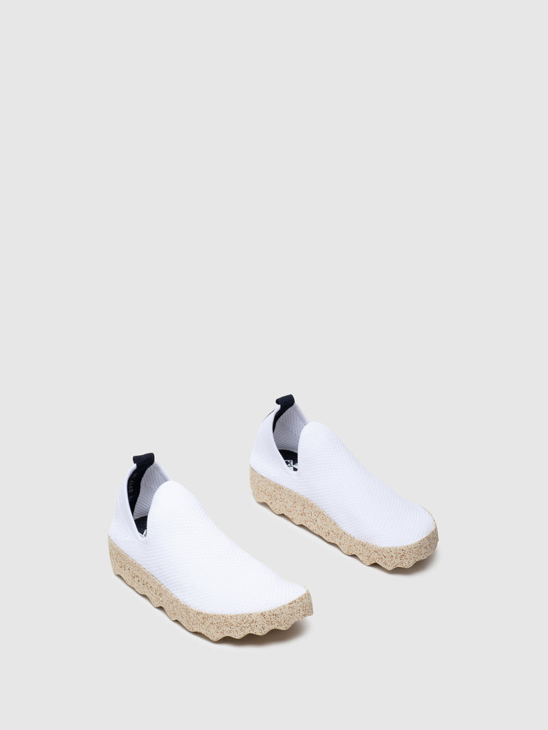 White Elasticated Sneakers