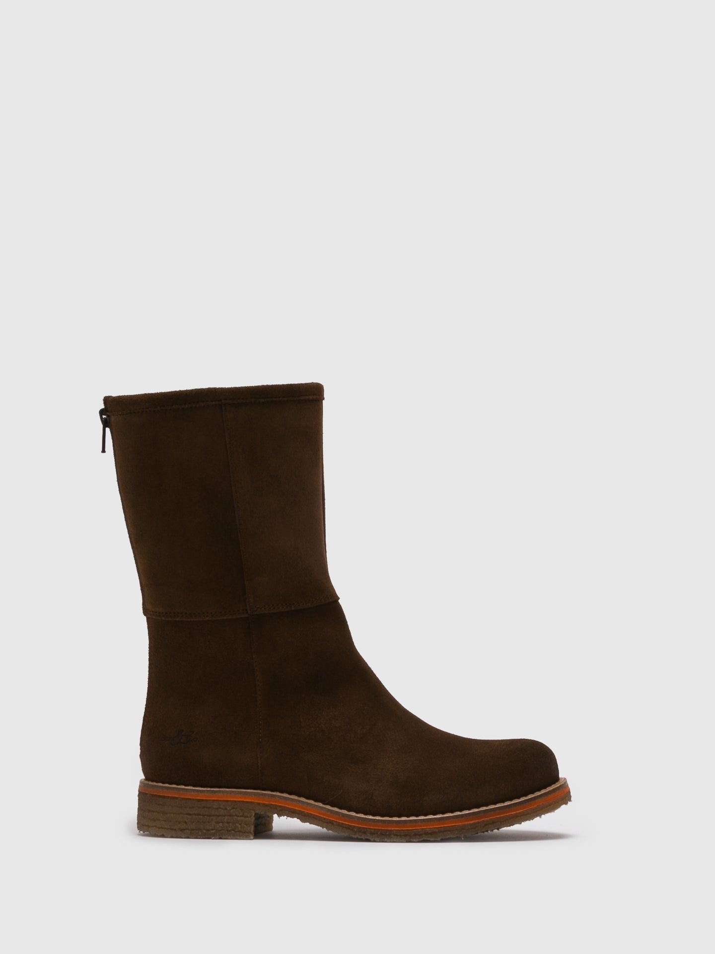 Bos&Co Beige Zip Up Boots