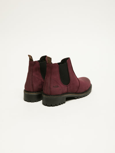 Bos&Co DarkRed Chelsea Ankle Boots