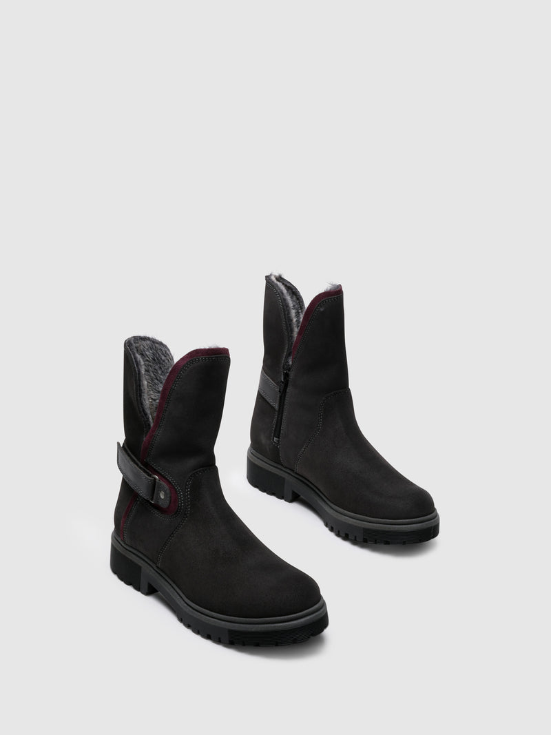 DarkGray Zip Up Boots