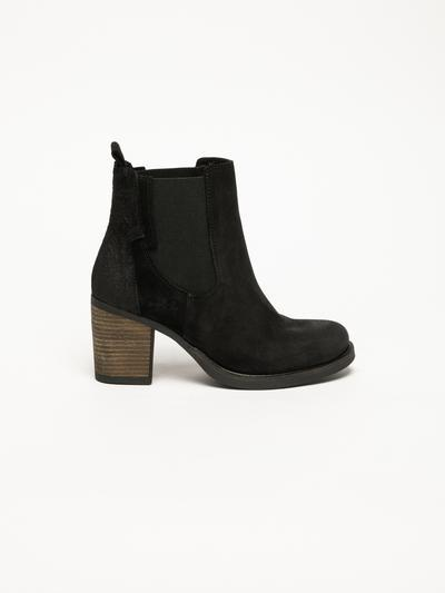 Bos&Co Black Suede Chelsea Ankle Boots