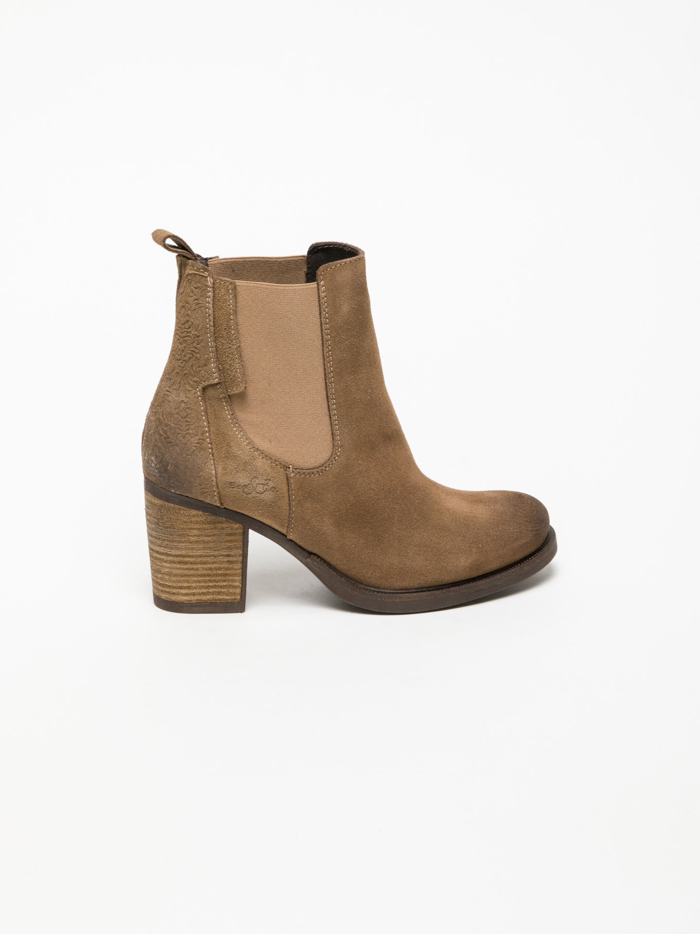 Bos&Co Tan Chelsea Ankle Boots