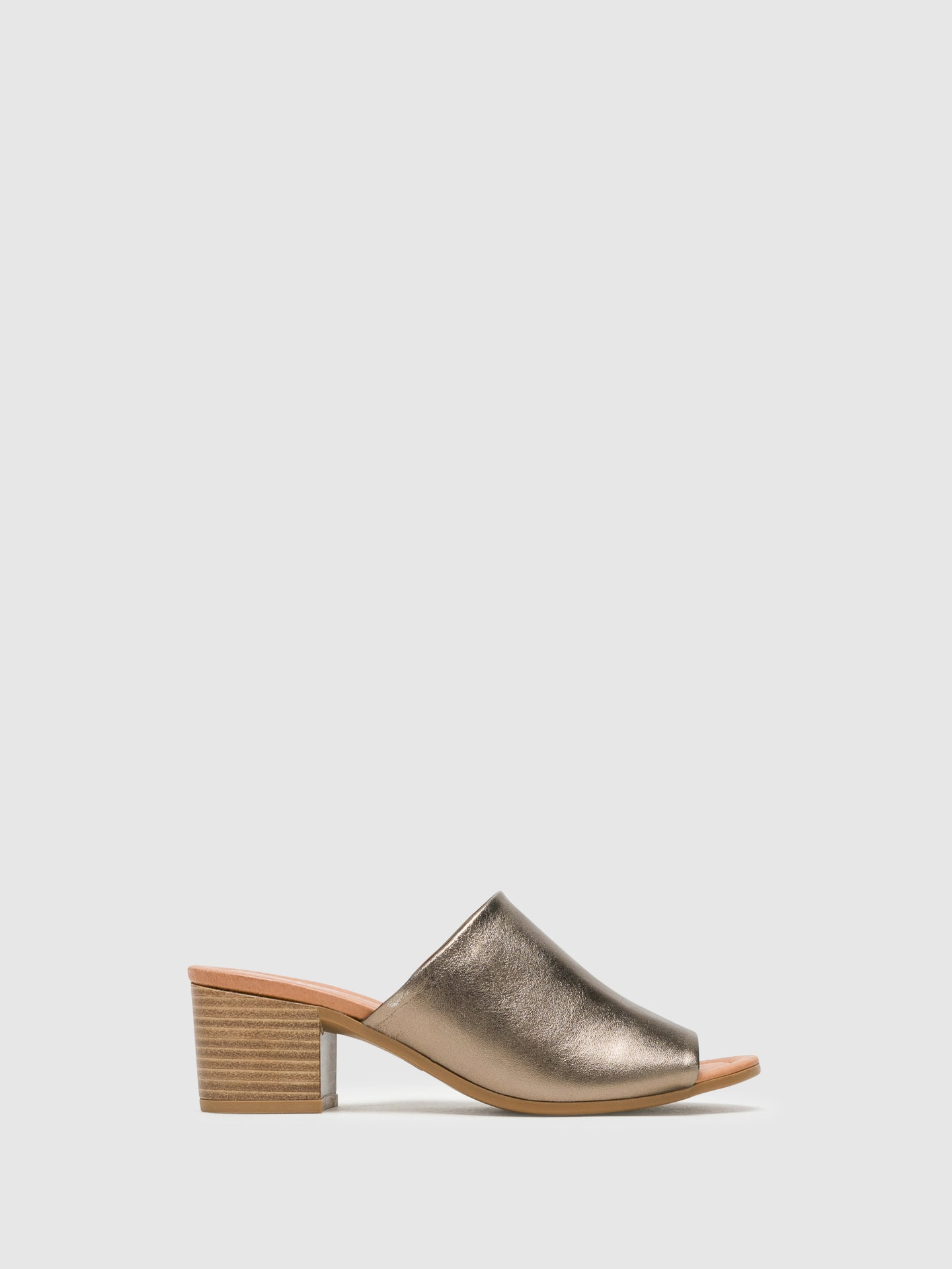 Bos&Co Gray Chunky Heel Mules