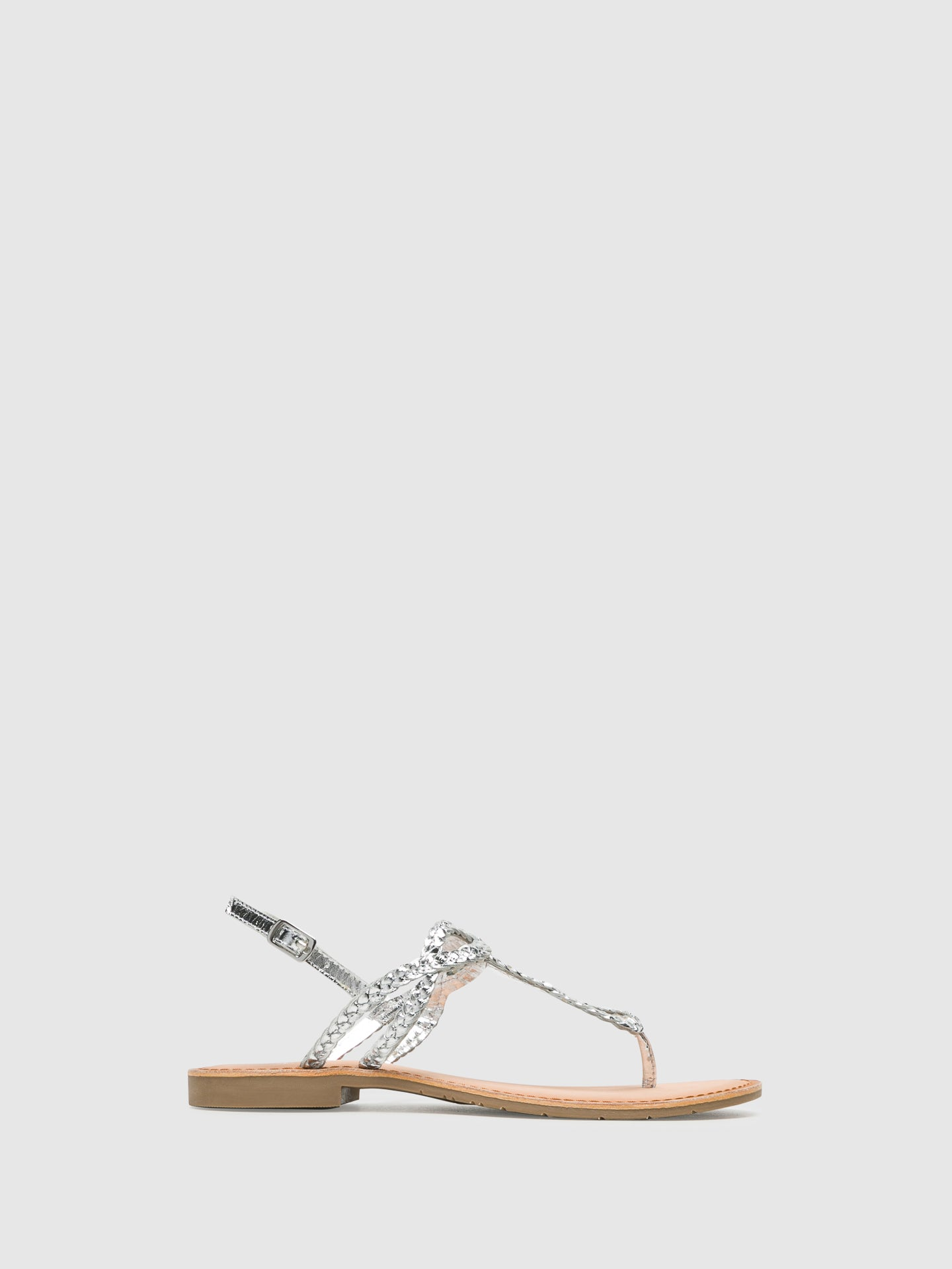 Bos&Co Silver Buckle Sandals