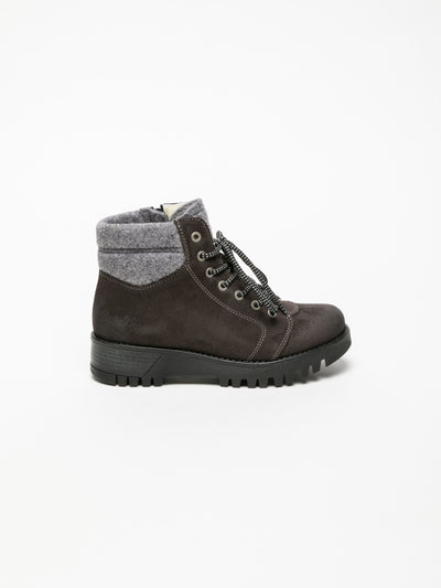Bos&Co Gray Lace-up Ankle Boots