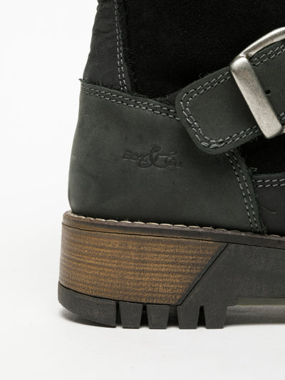 Bos&Co DarkGray Lace-up Boots
