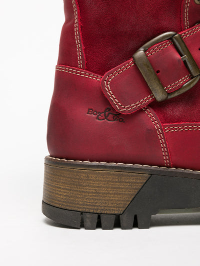 Bos&Co Red Lace-up Boots