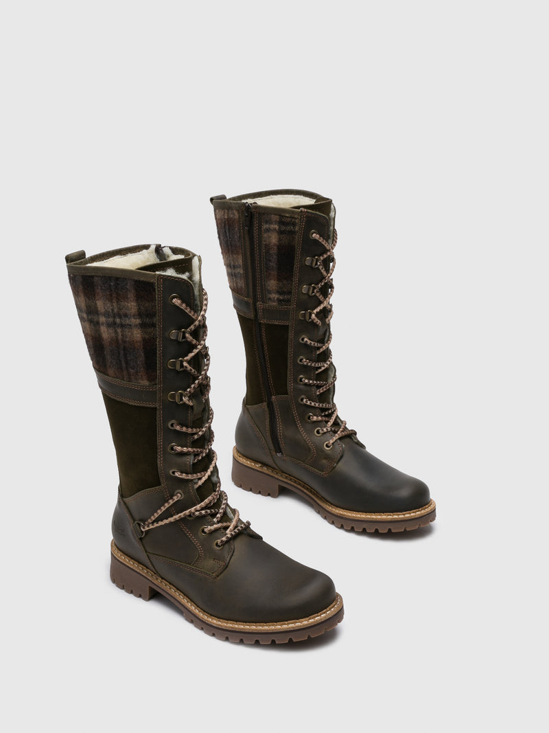Bos&Co Green Knee-High Boots