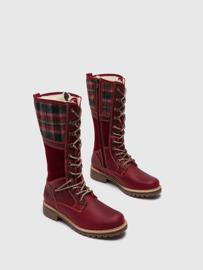 Bos&Co Red Knee-High Boots