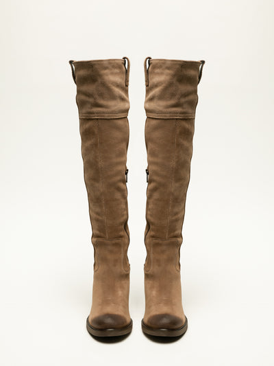 Bos&Co Tan Knee-High Boots