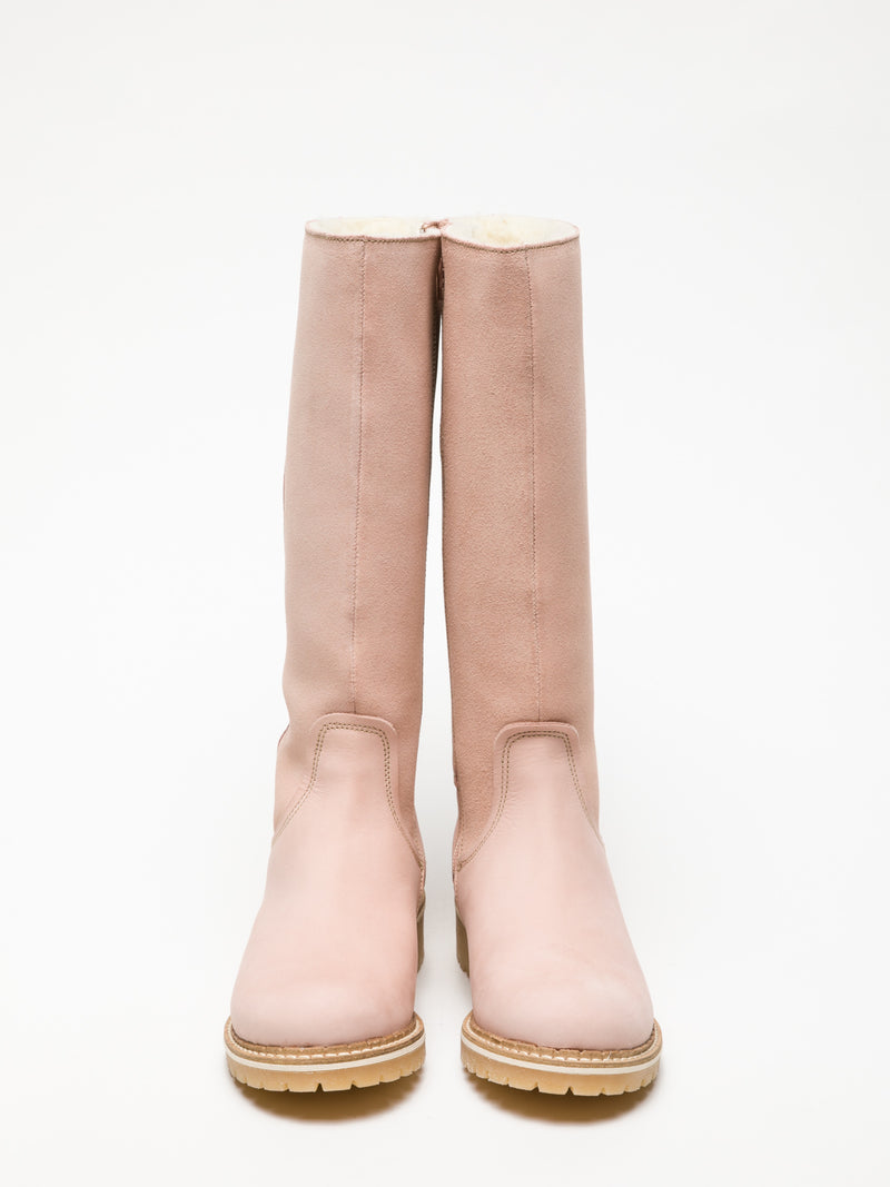 LightPink Knee-High Boots