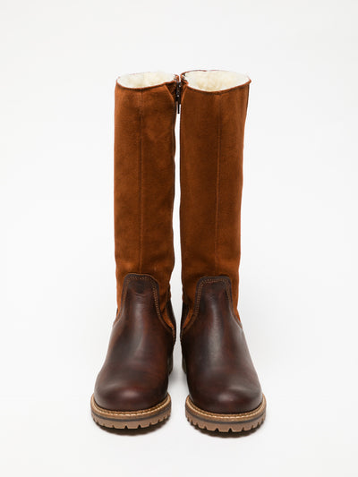 Bos&Co Orange Knee-High Boots