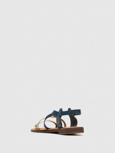 Bos&Co Silver Sling-Back Sandals