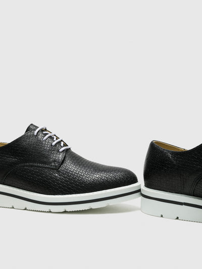 Bos&Co Black Lace-up Shoes