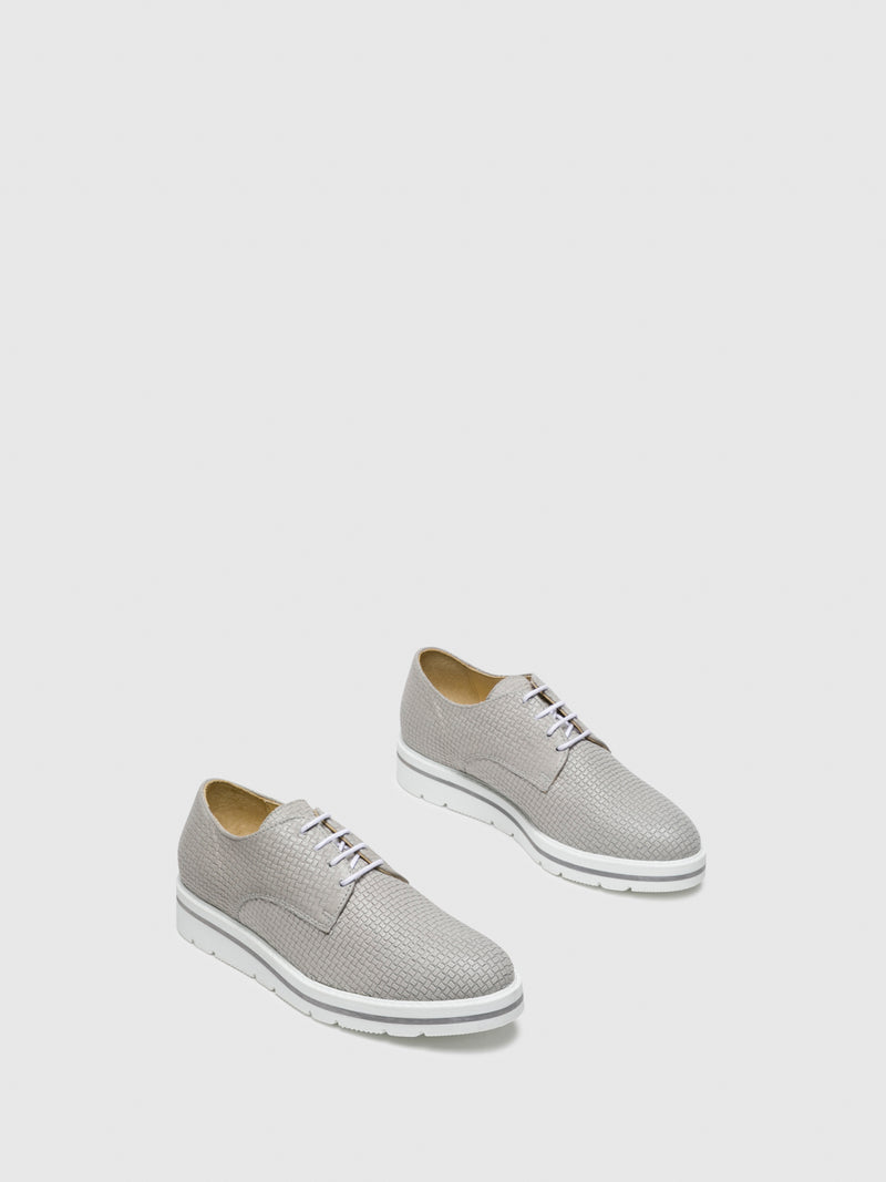 Gray Lace-up Shoes