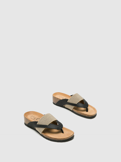 Bos&Co Black Thong Flip-Flops