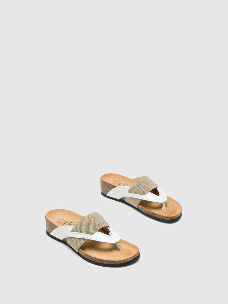 Bos&Co White Thong Flip-Flops