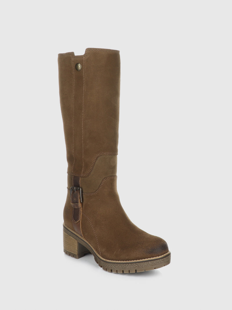 Bos&Co Camel Knee-High Boots