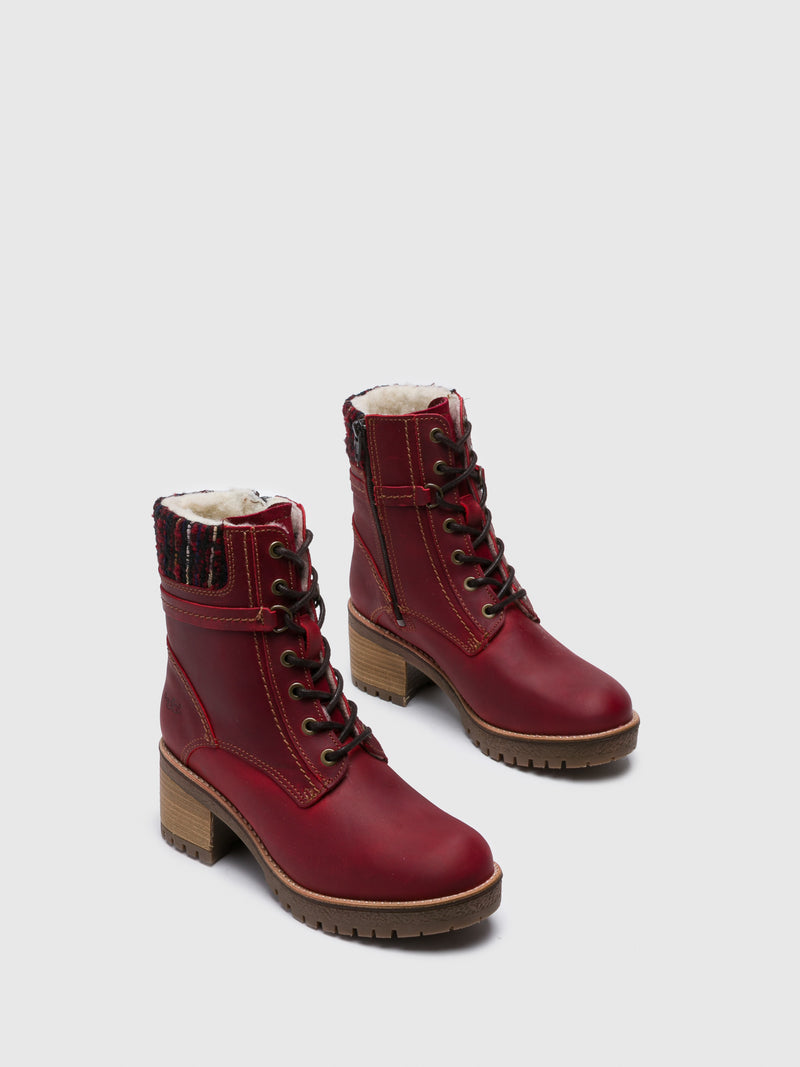Bos&Co Red Zip Up Boots