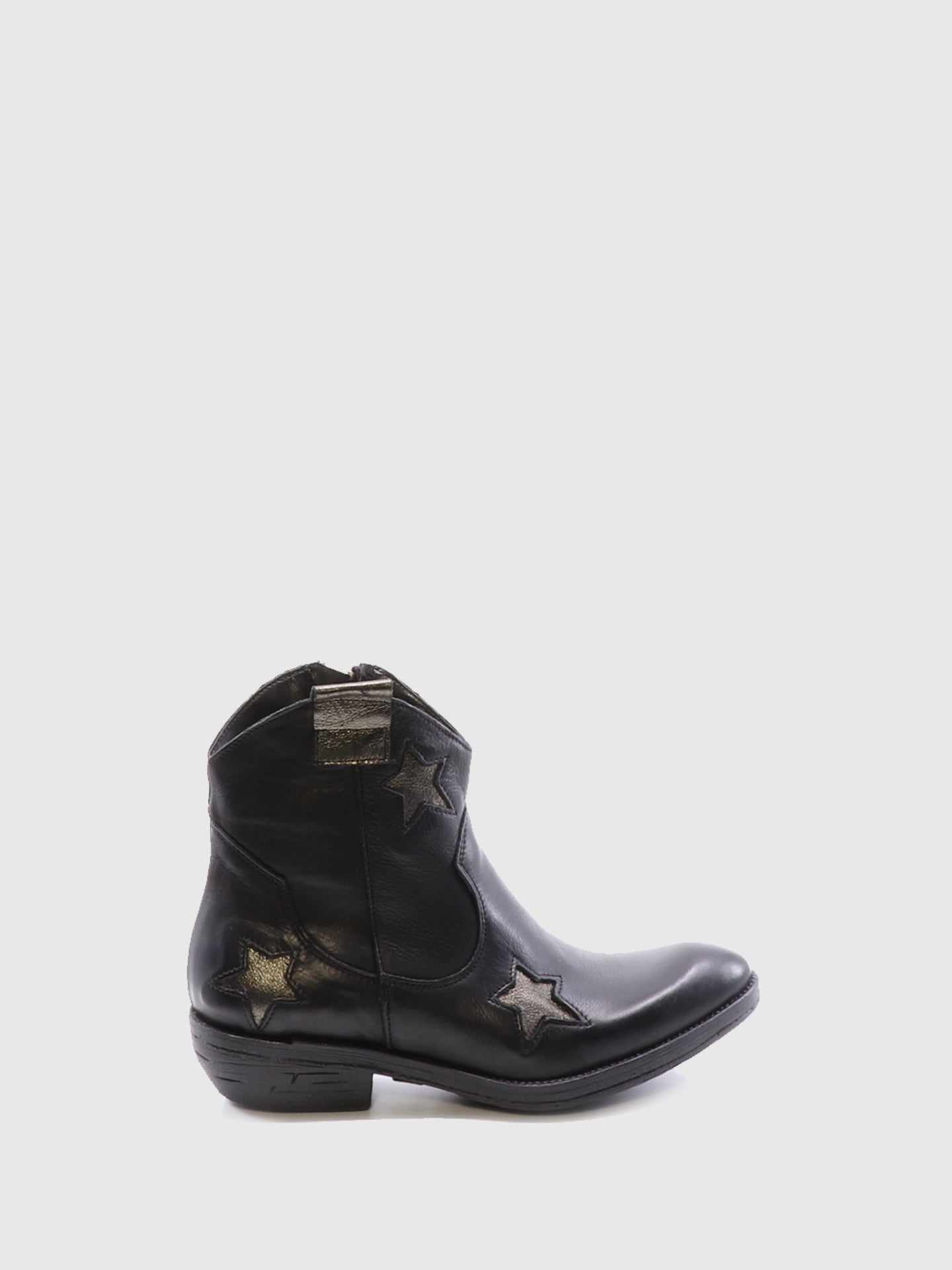 Bos&Co Black Cowboy Ankle Boots