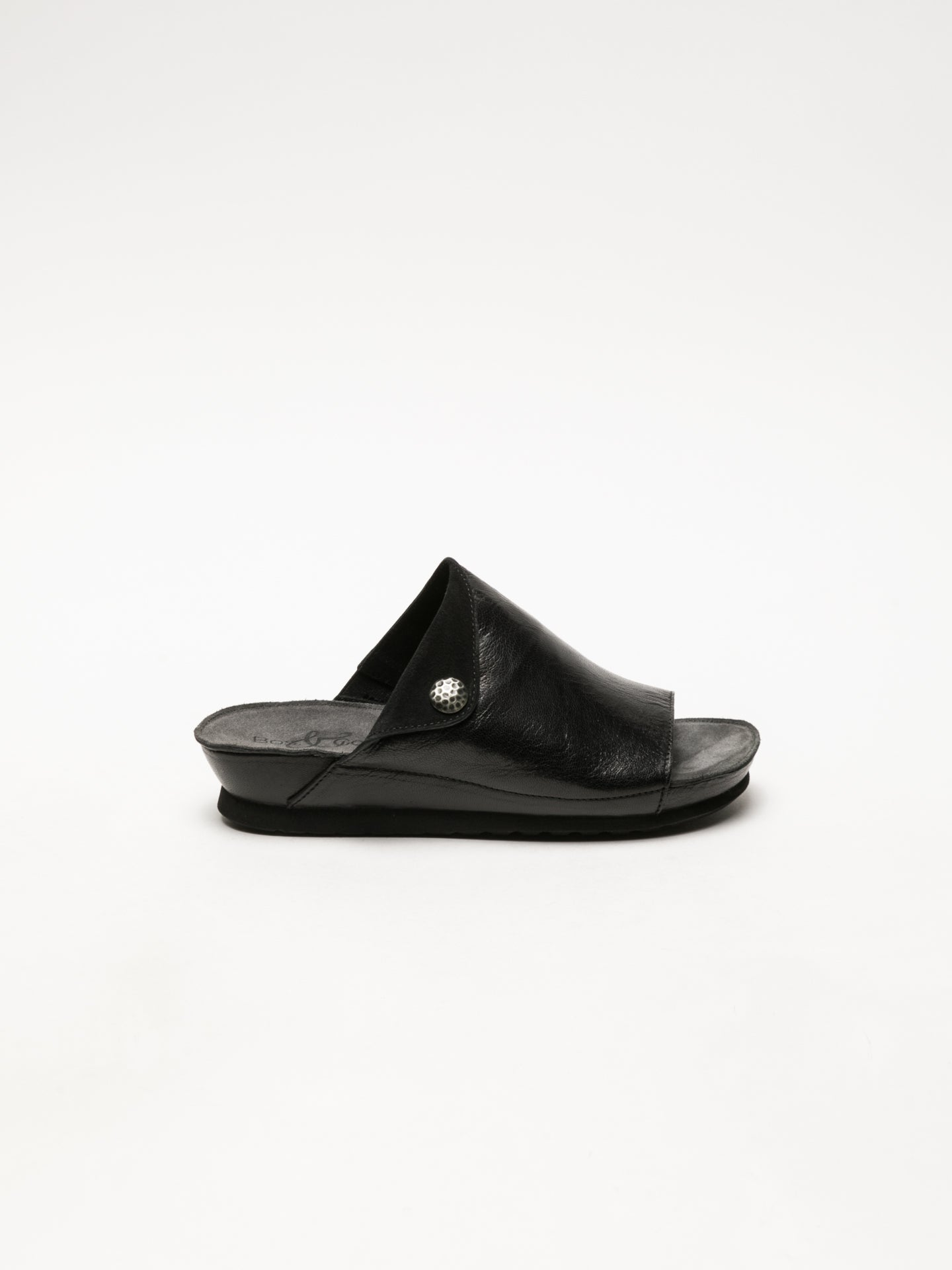 Bos&Co Black Open Toe Mules
