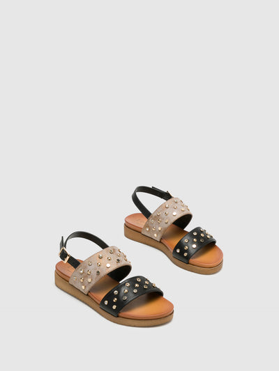 Bos&Co Multicolor Buckle Sandals