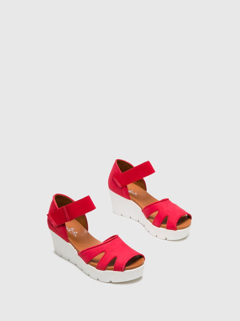 Bos&Co Red Velcro Sandals
