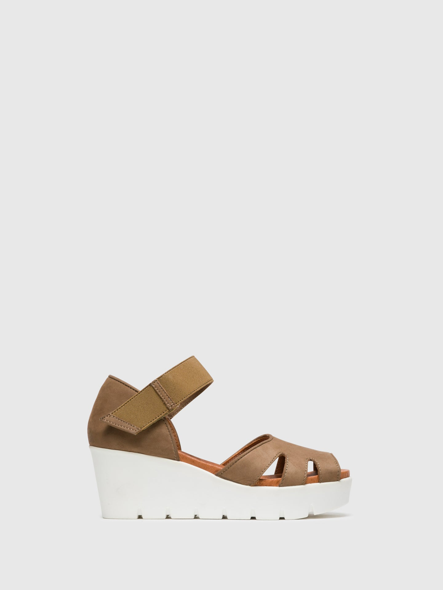 Bos&Co Beige Velcro Sandals